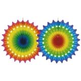Fächer aus Seidenpapier, Multicolor ca. 100cm
