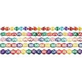 Girlande aus Seidenpapier, verschiedene Farben und Formen gemischt