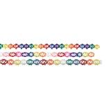Girlande aus Seidenpapier Netz , verschiedene Farben und Formen gemischt