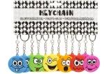 Schlüsselanhänger Emoticons mit Schlüsselring 1152 Stück