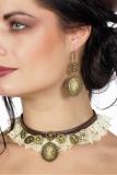 Ohrringe und Halsband (Choker) Set