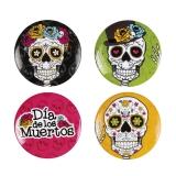 Buttons  Dia de los Muertos