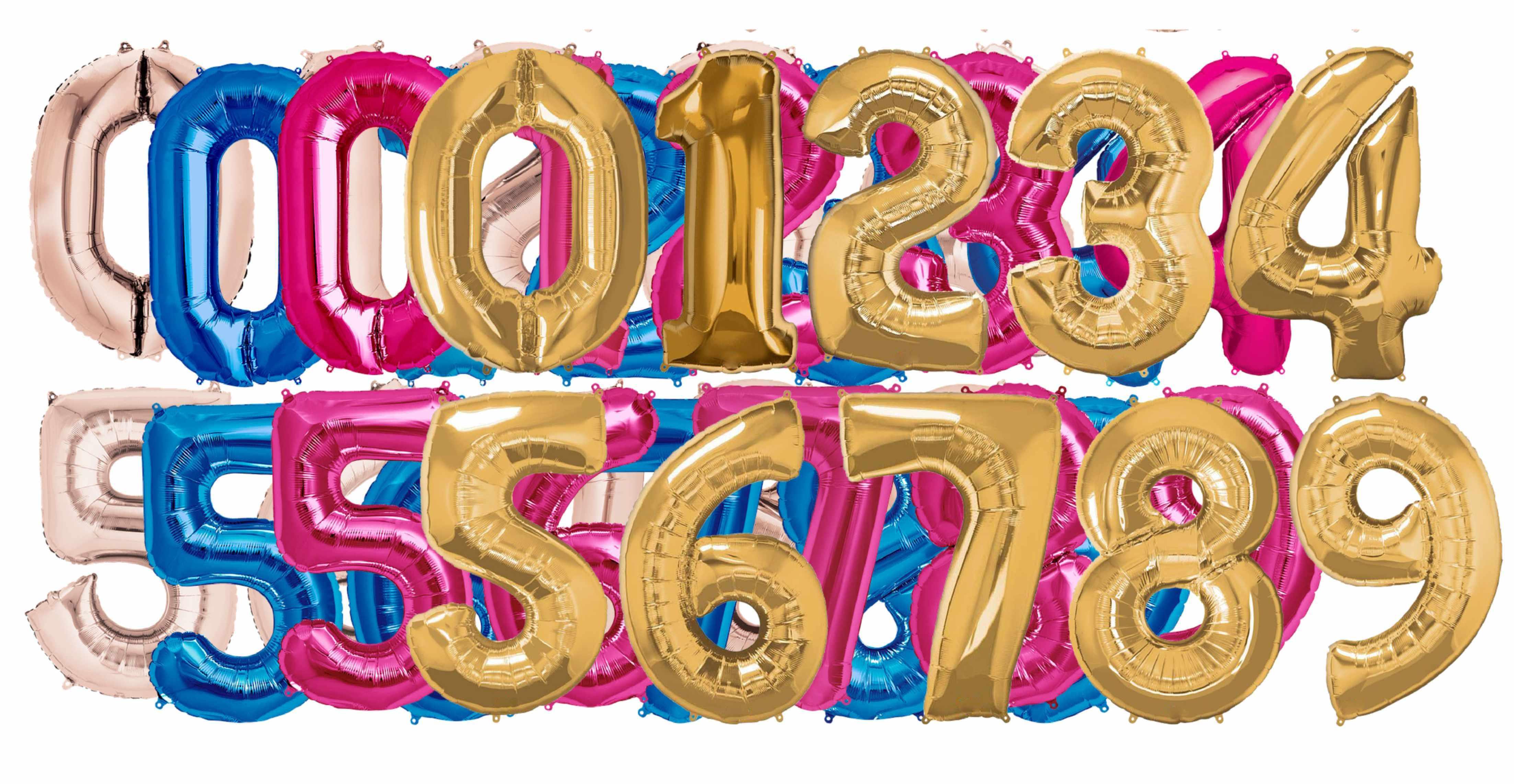 .Folienballon Zahlen