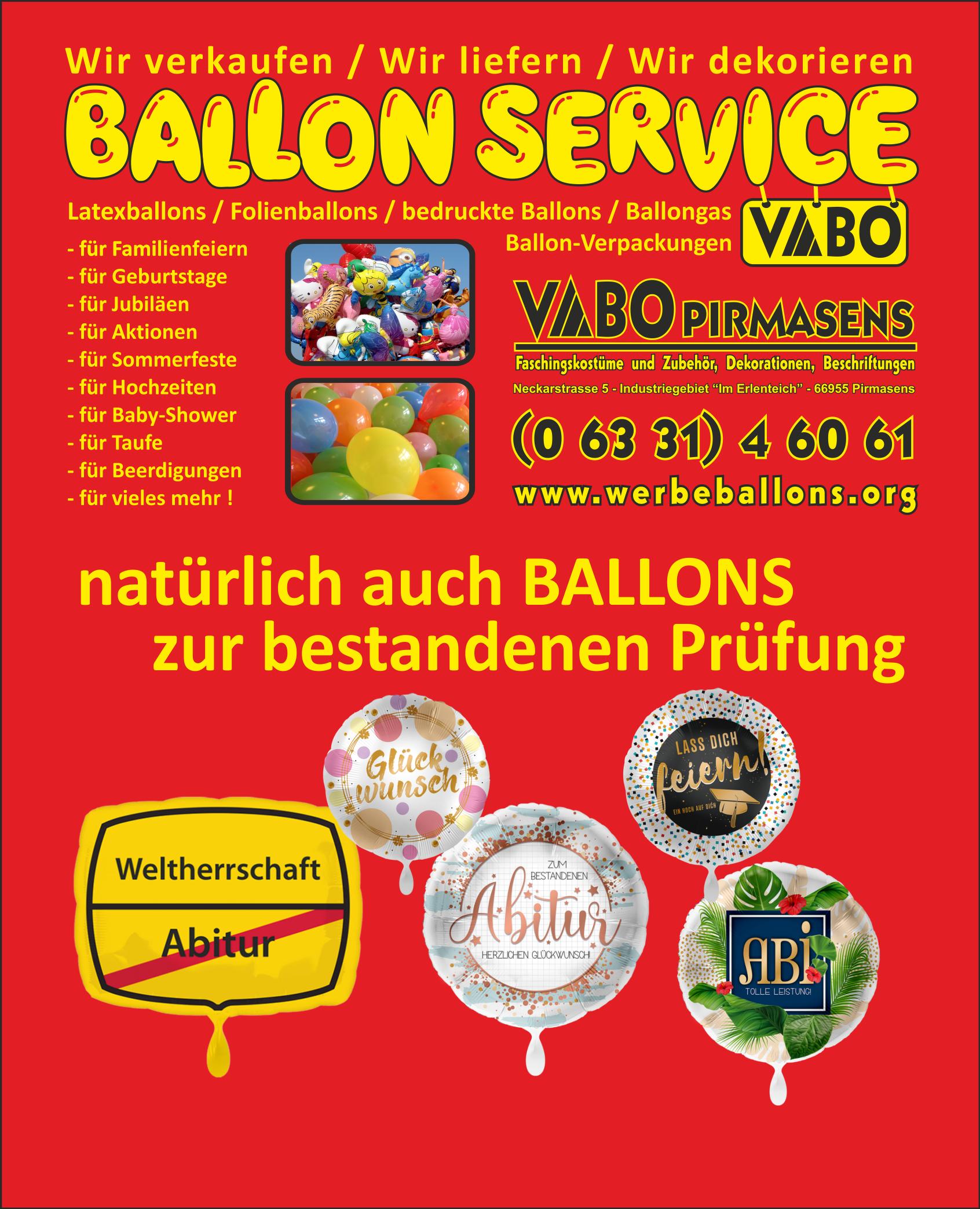 Folienballon - Prüfung, Abitur, Bachelor, Master, Doktor, Professor ...