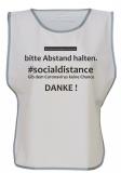 . #socialdistance Überwurf WEISS