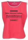 . #socialdistance Überwurf FLUO PINK