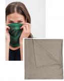 Multifunktionelles Schlauchtuch KHAKI kann auch als Gesichtsmaske fungieren.