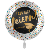 Folienballon Lass Dich feiern ! Abschluss, ca. 43cm