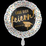 Folienballon XXL  Lass Dich feiern ! Abschluss ca. 71cm