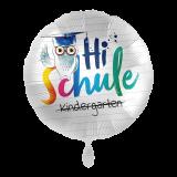 Folienballon - Einschulung, EULE - HI SCHULE, ca. 43cm