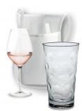 Schorle-Tasch  Umhängetasche für Wein, Bier oder alkoholfreie Getränkeglas oder Flasche weiss
